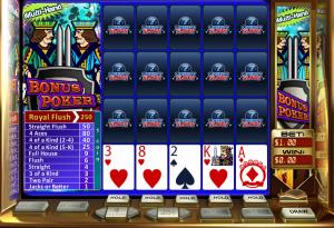 Multi Hand Bonus Poker