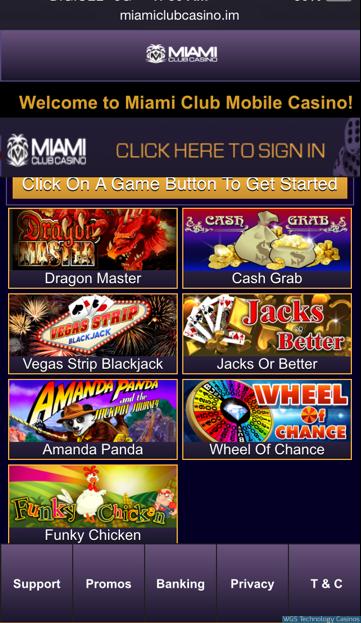 Miami Mobile Casino Software