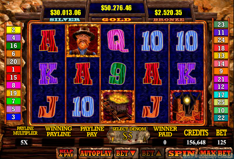 Mine All Mine Slot - WGS Online Casino Software