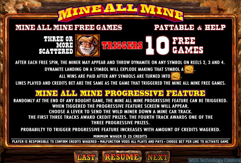 Mine All Mine Slots